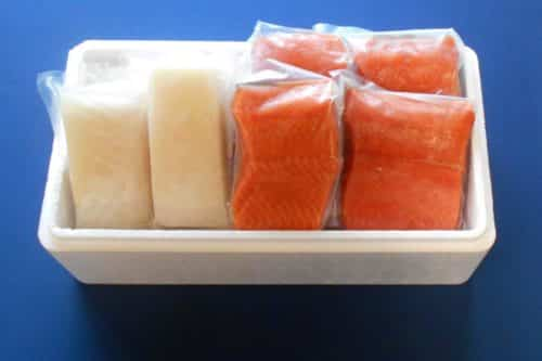 Fresh Wild Alaskan Coho Salmon and Halibut Combo - Boxed