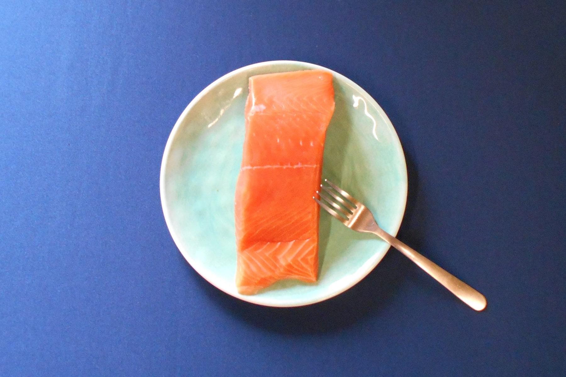 Fresh Wild Alaskan King Salmon - Plated