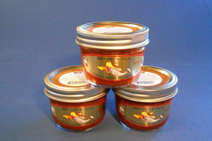 Smoked Coho Salsa Jars Hot