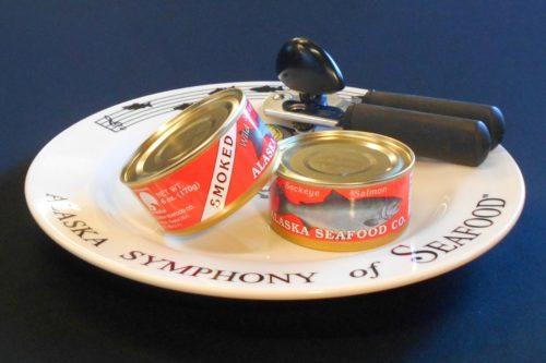 Smoked Sockeye Salmon Cans