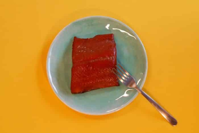 Smoked Wild Alaskan King Salmon - Plated